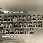 Maturitní tablo 1953 - 1957 - sklářská škola v Železném Brodě. Sklářští výtvarníci: Pavel Ježek, Bohumil Eliáš, Dáša Kudrnová, Jaroslav Svoboda; ředitel: Stanislav Libenský.