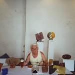 2001 - Galerie Stodola, Český Krumlov - během instalace