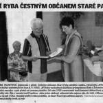 Jiří Ryba čestným občanem Staré Paky