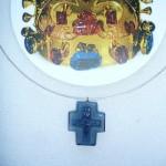 Detail kříže ze Svatováclavské koruny