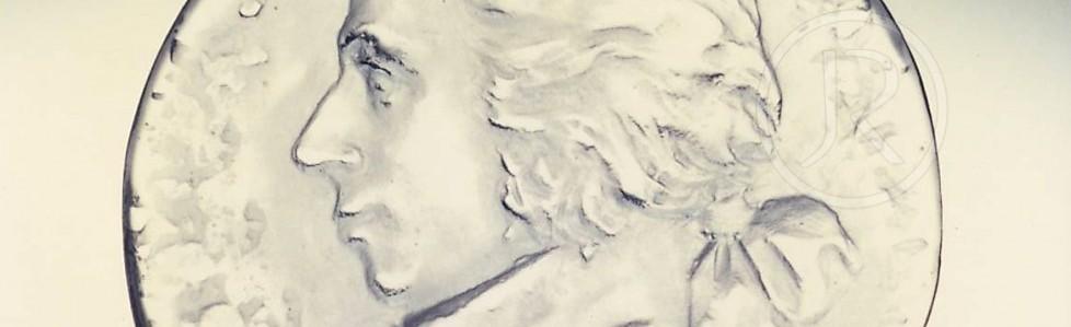 W.A. Mozart – kulatá plaketa – Rounded memorial tablet